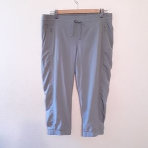 ZELLA SZ LARGE CROP GREY JOGGERS